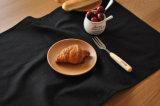 Guardanapo de linho simplificados algodão 100% do algodão preto com toalhas de chá