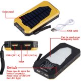 15000mAh는 배터리 백업 충전기 태양 에너지 충전기를 방수 처리한다