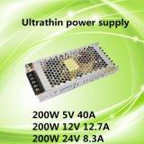 AC DCの単一の出力LED SMPS 200W 5V 40A極めて薄く細い切換えの電源