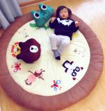 Детский Play-Mat Мягкая Micro норки круглый ковер