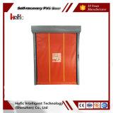 Puerta industrial de alta velocidad de la nueva del estilo del PVC del balanceo recuperación rápida de la cremallera