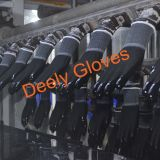 Черный полиэстер черный провод фиолетового цвета перчатки