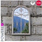 Miroir blanc de mur de fer arqué par Anitque de jardin