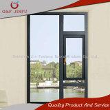 Het korte Openslaand raam van het Aluminium van het Metaal van het Ontwerp Goedkope Enige Verglaasde