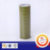 녹색 노란 줄무늬 전기 테이프를 경고하는 PVC