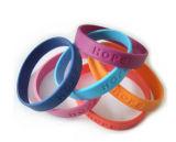 Bracelet de silicones estampé par logo fait sur commande pour le cadeau promotionnel (YB-SM-12)