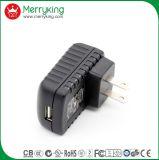 Support 5V 1A de mur de qualité nous chargeur de course de la fiche USB avec UL/cUL/FCC