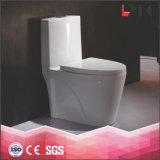 Tocador de cerámica vendedor caliente del cuarto de baño de la cacerola del Wc del baldeo de una pieza