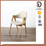 Asiento de madera de la tela de las piernas del diseño elegante moderno que cena la silla
