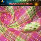 Hilo de poliéster colores teñidos de comprobación de la moda tejidos en hilo de oro