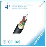 Câble fibre optique à une seule couche de la jupe libre ADSS d'halogène avec de la fumée inférieure