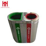 Unterschiedlicher Fach-Edelstahl-Abfalleimer des Flughafen-zwei