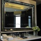 Espejo decorativo del cuarto de baño de la alta calidad de la plata competitiva redonda de la luz