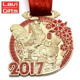 Медаль монетки золота металла спорта чемпиона 3D фабрики выгравированное таможней коммеморативное