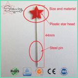La venta caliente clasificó los contactos rectos de costura principales de costura coloreados de la dimensión de una variable de la estrella de los contactos del remiendo de las herramientas
