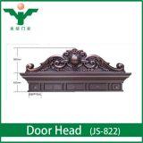 Tête découpée exquise de porte d'entrée de contre-plaqué avec le faisceau en bois solide