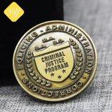 真鍮のBronezeの銀製の金によってめっきされるエナメル3Dの習慣の硬貨