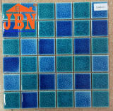 48X48mmは混合した青いプールのひびの磁器のモザイク(C648061)を