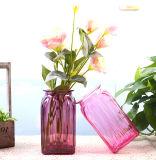 Цветные стеклянные вазы для дома украшения