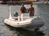 Liya Marcação 19pés construtores de barcos costela 580 Barco de Velocidade na Água