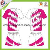 Uniformes 100% feitos sob encomenda do futebol da venda por atacado da camisa do futebol do Sublimation do poliéster