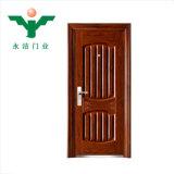 China puerta de doble hoja Precio de la puerta de acero puerta de acero exterior baratos