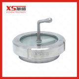 Vidrio de la vista de la abrazadera de la pipa higiénica del acero inoxidable del grado de la comida de 38.1mm