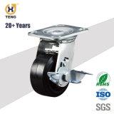 표준 손 트롤리 바퀴 피마자, 125mm TPR 바퀴