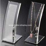 Étalage acrylique clair de bloc pour le bijou