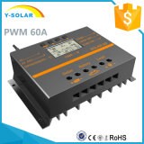 regulador solar de la carga de 60A 12V/24V/control S60 del regulador Light+Timer