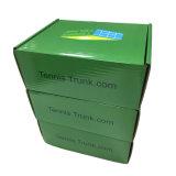 A cor verde impressa veste a caixa de papel