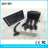 Minisolarhauptbeleuchtung-Installationssätze mit intelligenter Telefon-Aufladeeinheit, 3PCS LED Birnen