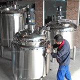 ステンレス鋼の倍のジャケットの蒸気暖房のミルクまたはシロップの混合タンク
