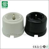 Interruptor rotatorio de la porcelana e interruptor ligero pasado de moda del socket