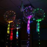 気球ストリングライト、LEDボボは10FTの多彩な銅ライト、3PCS 18inchの透過気球をできるクリスマス、誕生日のためのFilbleの空気ヘリウムの水素風船のようにふくらませる