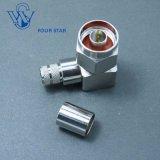 Câble LMR400 Fiche mâle à sertir à angle droit N connecteur coaxial RF