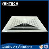 Aircon entfernbarer Decken-Quadrat-Diffuser (Zerstäuber), 4 Möglichkeits-Wand-Zubehör-Luft-Diffuser (Zerstäuber)
