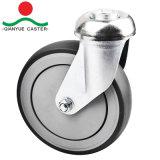 De 5 pulgadas de alta calidad Compras Caster con el tornillo, rueda de poliuretano de estilo de EE.UU.