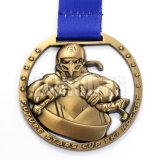 Medalha dourada plástica chapeada feita sob encomenda do metal do efeito 3D do ouro velho