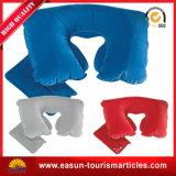 Promoción de la forma cuadrada cuello Almohada hinchable de resistente al agua afelpada