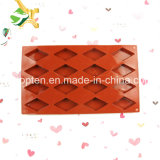 100% moulages de chocolat de losange des silicones 16-Cavity de catégorie comestible