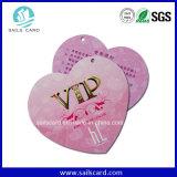 Plástico irregular popular cartão cortado com furo Pounching