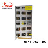 Smun as-250-24 110V/220VAC au mini bloc d'alimentation de commutation de 24VDC 10A