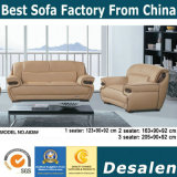 Precio al por mayor de la fábrica de grano superior sofá de cuero para mobiliario de oficina (A838)