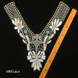 beau collier de lacet de cru de 35*38cm, lacet de mariage de cru, lacet nuptiale Hme924 de cru