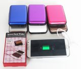 힘 은행, 2000mAh 힘 은행을%s 가진 알루미늄 지갑을 막는 새로운 특허 RFID