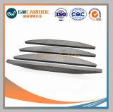 Tiras de carboneto de tungstênio com alta precisão