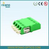 LC Multimode Adapter van de Kleur van de Voetafdruk Duplex Beige van de Optische Adapters van de Vezel