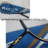 Clinquant d'estampage chaud de qualité pour la raquette de badminton