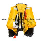 Giubbotto di salvataggio automatico di 150n 33G CISLM del Ce di approvazione gonfiabile personalizzabile di EC CCS per i capretti che nuotano con il riflettore